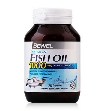 น้ำมันปลา-Bewel-Salmon-Fish-Oil-1000-mg-Plus-vitamin-E