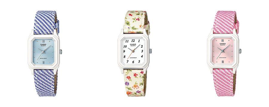 นาฬิกาข้อมือผู้หญิงสายผ้า Casio รุ่น LQ-142LB