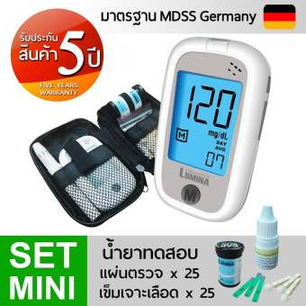 เครื่องวัดน้ำตาล เครื่องตรวจน้ำตาลในเลือด Lumina OK Meter SET MINI