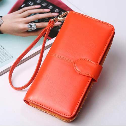 กระเป๋าสตางค์สีส้ม-ชายหญิง