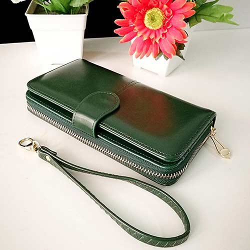 กระเป๋าสตางค์สีเขียว-พุธ