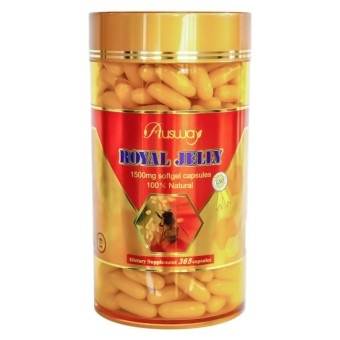 Ausway Royal Jelly 1500 mg. นมผึ้ง ออสเวย์ [365 Capsules]