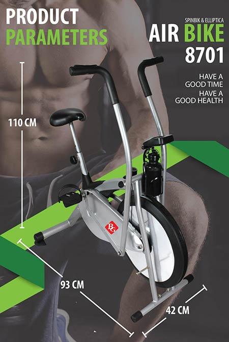 B&G-จักรยานออกกำลังกาย-จักรยานบริหาร-พร้อมที่วัดชีพจร-รุ่น-BG8701