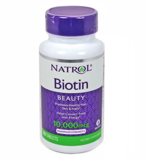 Natrol Biotin 10,000 mcg วิตามินบำรุงผม ยี่ห้อไหนดี 2019