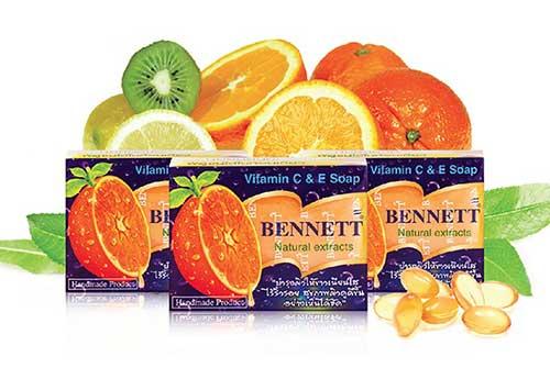 สบู่ป้องกันสิว BENNETT Vitamin C&E